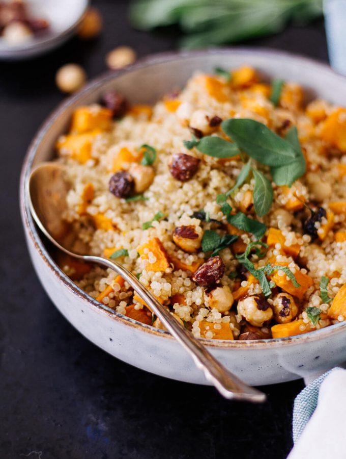 Sweet potato Quinoa with caramelized hazelnuts - plant-based, vegan, gluten free, refined sugar free - heavenlynnhealthy.com