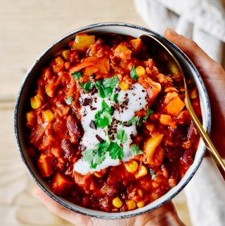 Anti-Flatulence Vegetarian Blitz-Chili - plant-based, vegan, gluten free, refined sugar free - heavenlynnhealthy.com