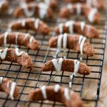 Healthy Chocolate Vanilla Crescent Christmas Cookies