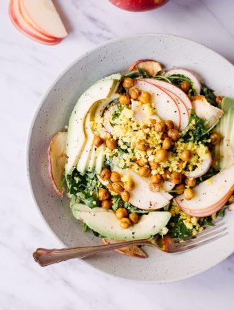 Crunchy Apple Cauliflower Salad with Apple Dressing