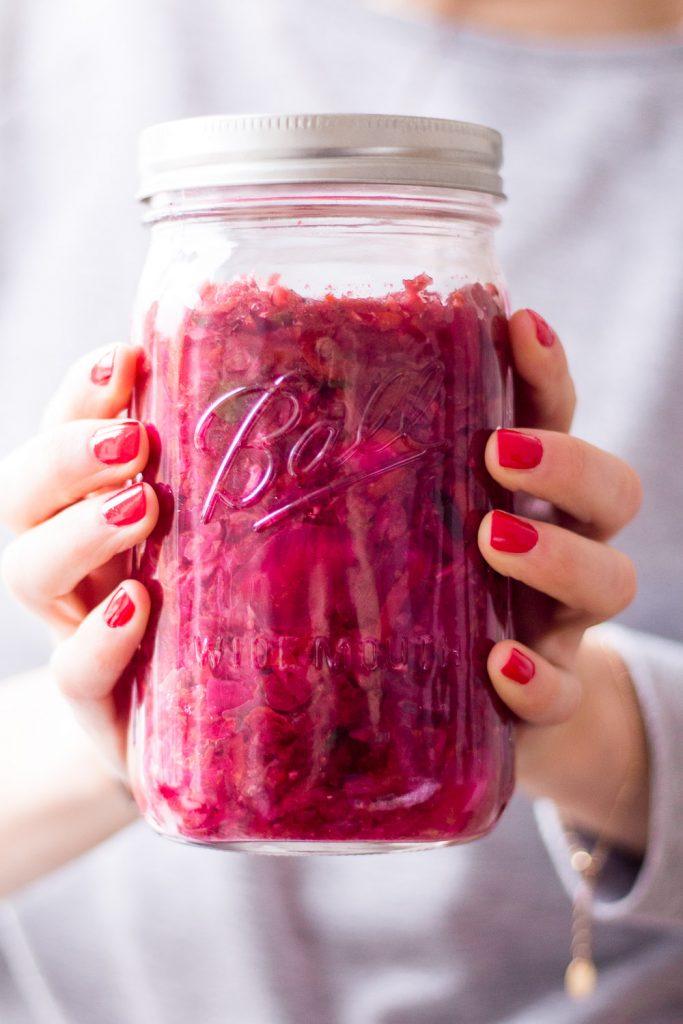 Healthy Pink Kimchi - plant-based, vegan, gluten free, refined sugar free - heavenlynnhealthy.com
