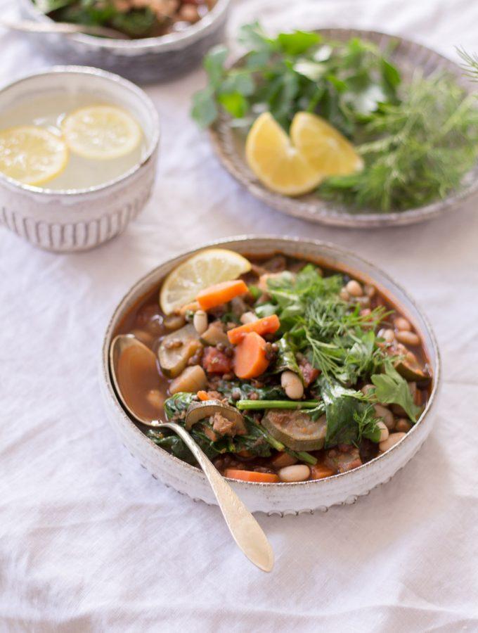 Comforting Self-Love Stew with Beluga Lentils - plant-based, vegan, gluten free, refined sugar free - heavenlynnhealthy.com