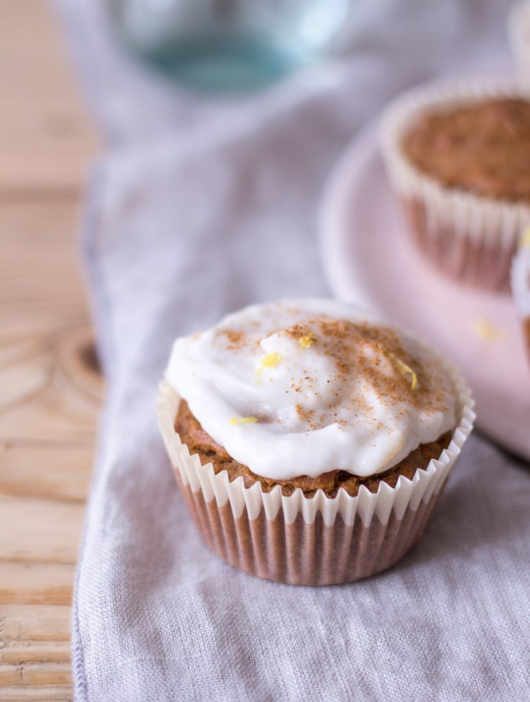 Carrot Cake Cupcakes - plant-based, vegan, gluten free, refined sugar free - heavenlynnhealthy.com
