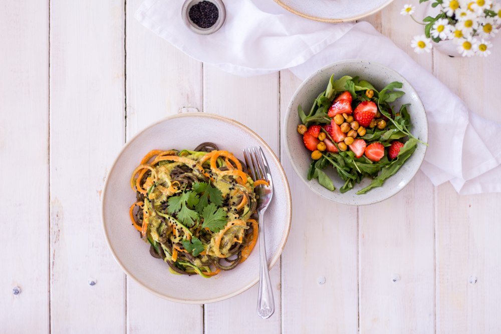Indian-inspired curry-noodles - plant-based, vegan, gluten free, refined sugar free - heavenlynnhealthy.com