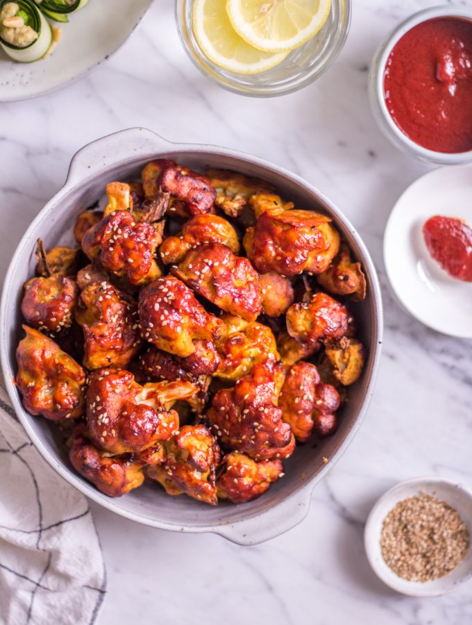 Spicy Vegan Cauliflower Wings - plant-based, vegan, gluten free, refined sugar free - heavenlynnhealthy.com