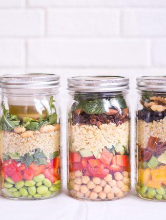 4 mason jar salads to go