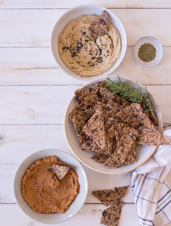 Gluten-free seed crackers with rosemary