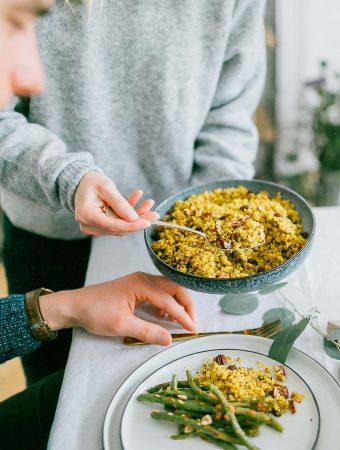 Super quick & festive quinoa