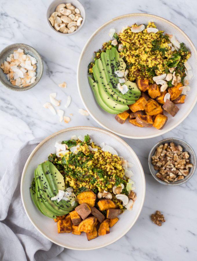 Hormone Balancing Bowl - plant-based, vegan, gluten free, refined sugar free - heavenlynnhealthy.com