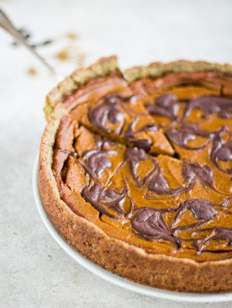 Pumpkin Pie with Chocolate Swirl