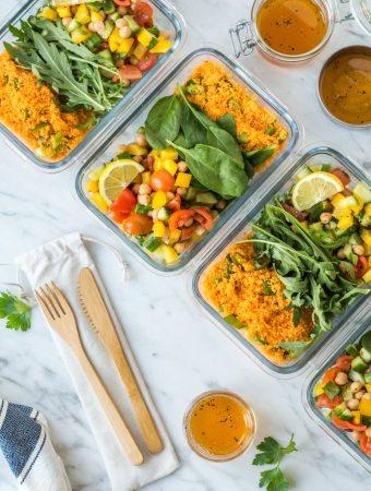 15-minute meal prep couscous salad